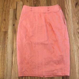 NWOT Anthropologie Embroidered Pencil Skirt